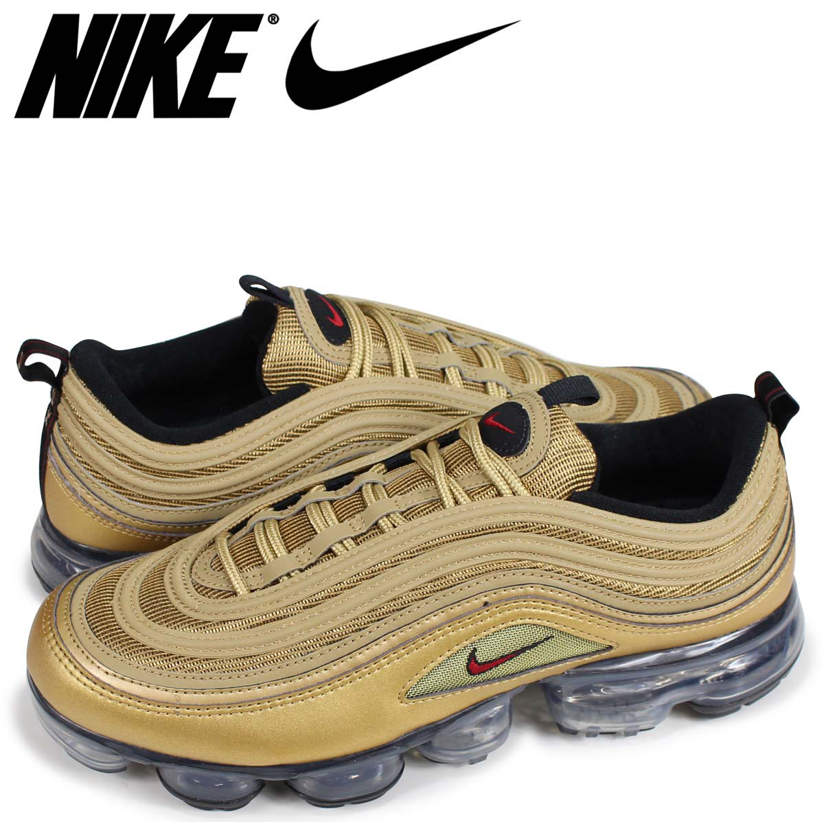 6f0a42c700 NIKE AIR VAPORMAX 97 Nike air vapor max 97 sneakers men gold AJ7291-700 ...