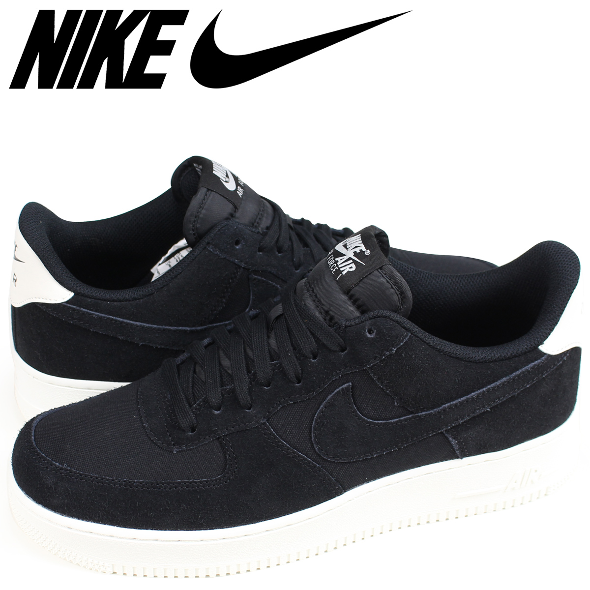 nike air force 1 07 suede black