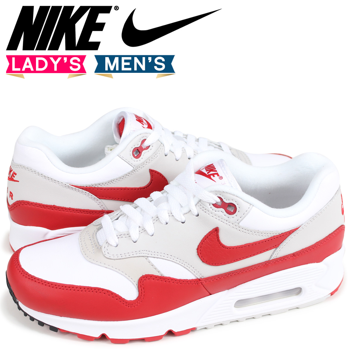 online store 40b2d cd12f NIKE WMNS AIR MAX 90 1 Kie Ney AMAX 90 1 sneakers Lady s men white AQ1273- 100