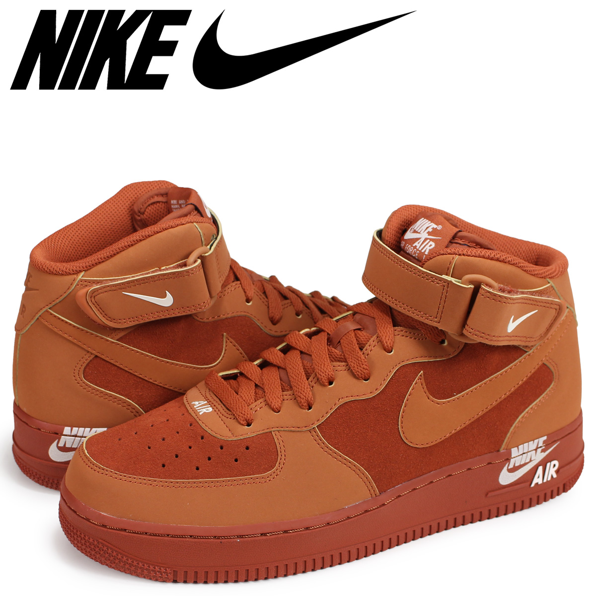 NIKE AIR FORCE 1 MID 07 Nike air force 1 sneakers men brown 315,123 207