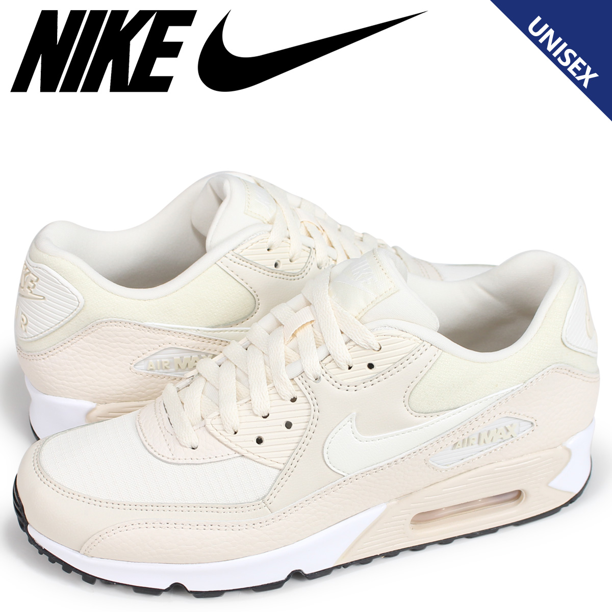 new concept b882c 69319 Nike NIKE Air Max 90 lady's men's sneakers WMNS AIR MAX 90 325,213-213 beige