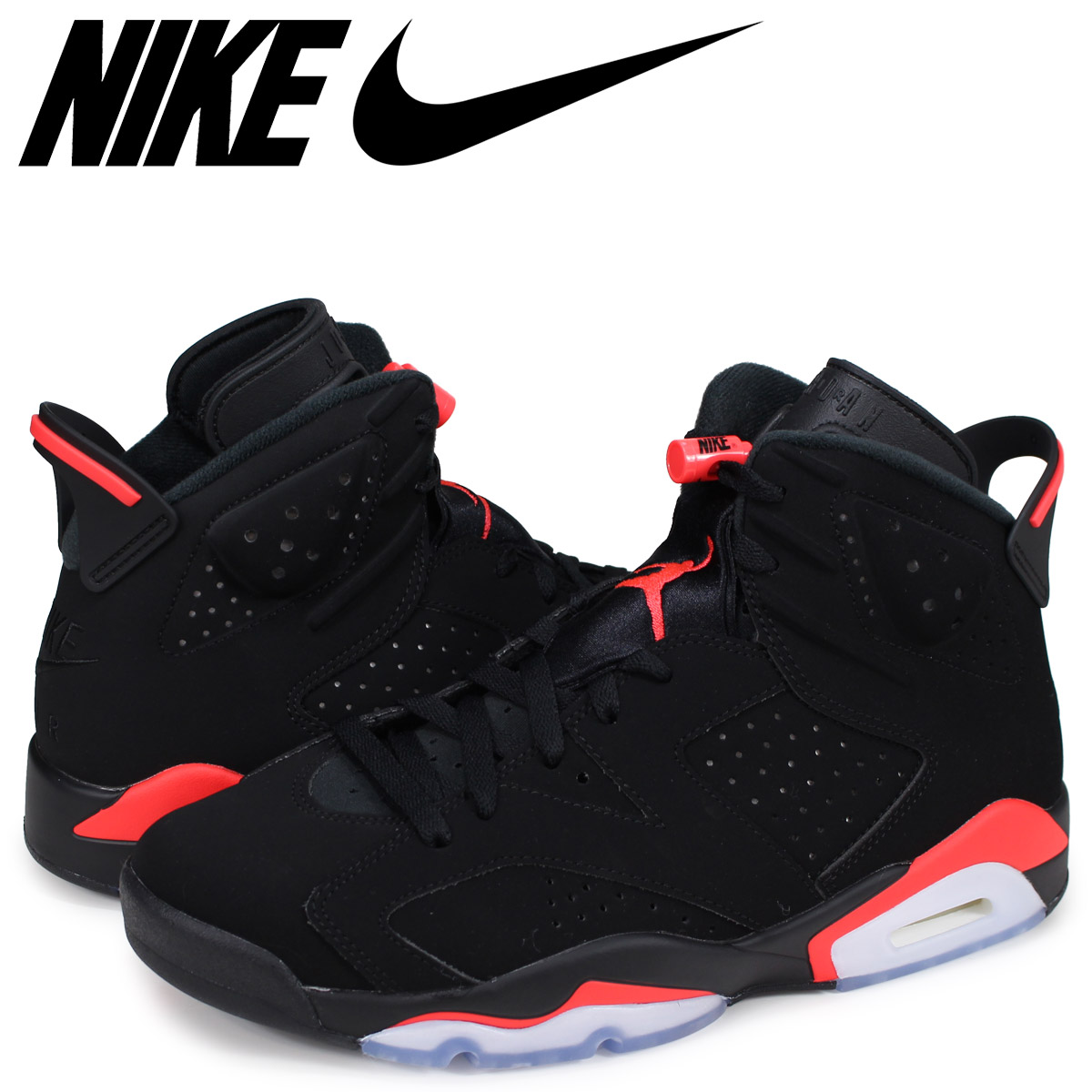 wholesale dealer ae000 ffe60 NIKE AIR JORDAN 6 RETRO Nike Air Jordan 6 nostalgic sneakers men black  infrastructure red 384,664-060  the 4 3 additional arrival