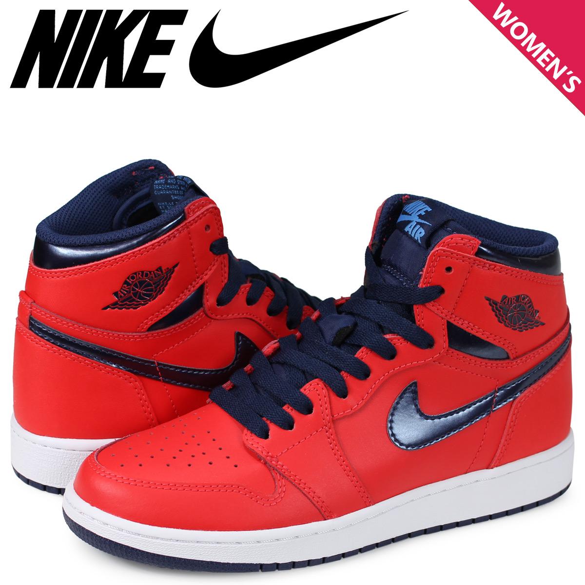 c1ea8aa62ee NIKE AIR JORDAN 1 RETRO HIGH BG Nike Air Jordan 1 nostalgic Haile Dis  sneakers red ...