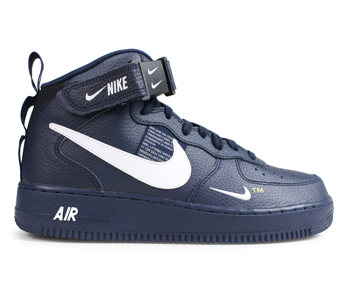 official photos 80530 45f32 NIKE AIR FORCE 1 MID 07 LV8 Nike air force 1 sneakers men navy 804,609-403