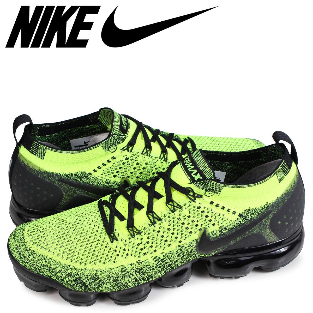 wholesale dealer de36b 94d94 NIKE AIR VAPORMAX FLYKNIT 2 Nike air vapor max fried food knit 2 sneakers  men neon yellow 942,842-701