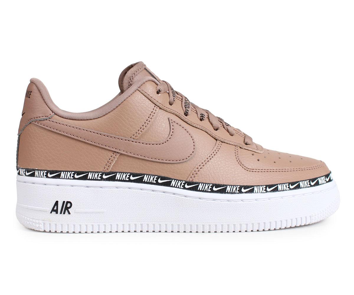 059ca1422 ... NIKE WMNS AIR FORCE 1 07 SE PREMIUM Nike air force 1 sneakers Lady's  men brown ...