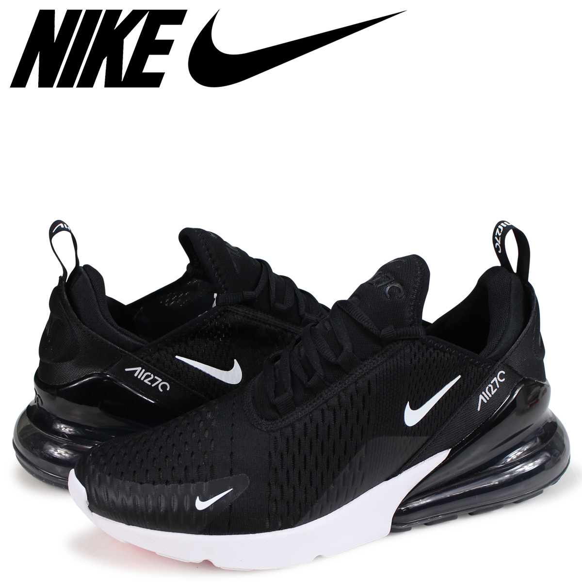 922d41a2bf6c8 NIKE AIR MAX 270 Kie Ney AMAX 270 sneakers men AH8050-002 black [the ...