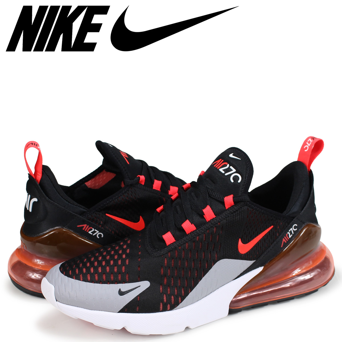 Nike NIKE Air Max 270 sneakers men AIR MAX 270 AH8050-015 black  load  planned Shinnyu load in reservation product 10 3 containing  611b345beb17