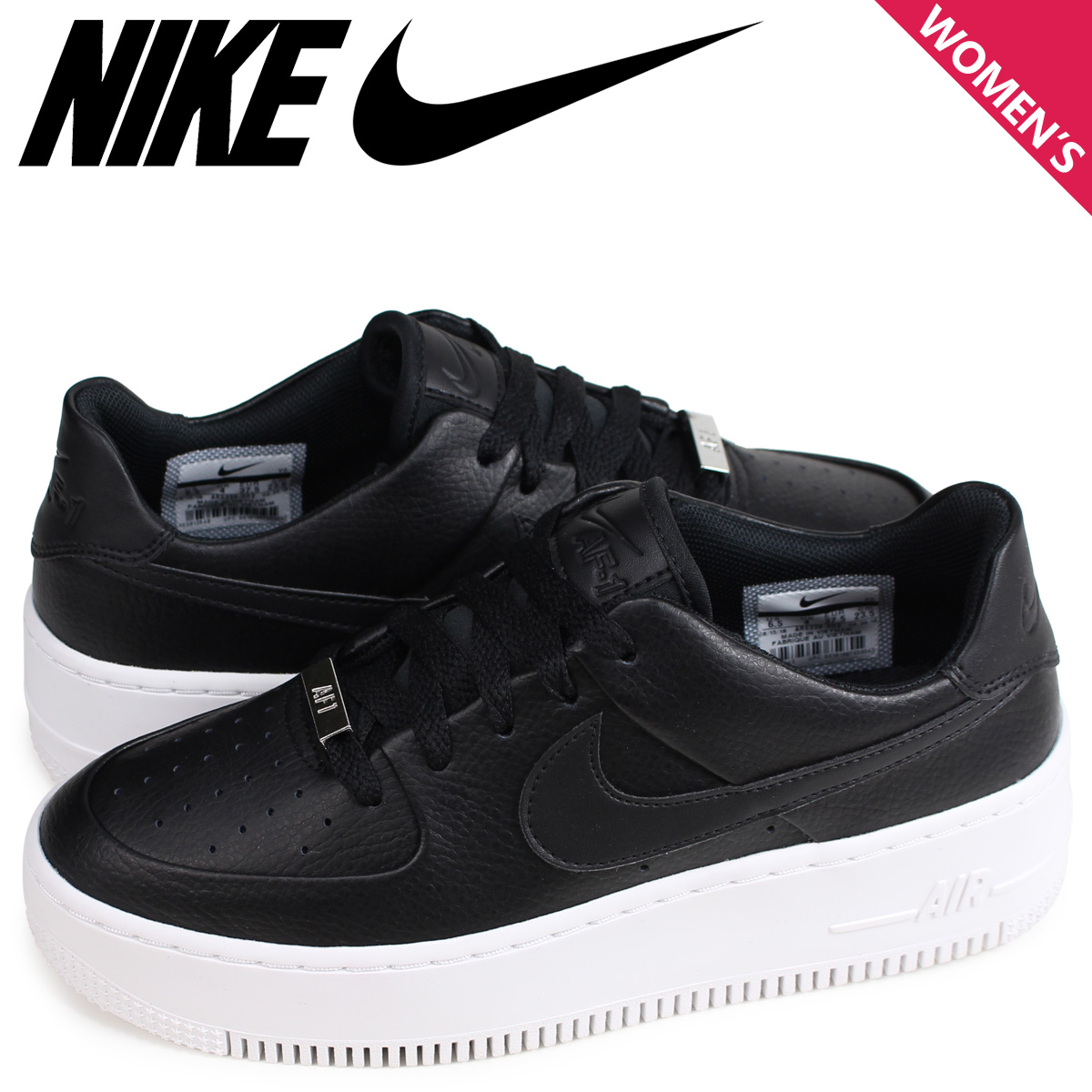 NIKE WMNS AIR FORCE 1 SAGE LOW AF1 Nike air force 1 sneakers Lady's black AR5339 002 [the 110 additional arrival]