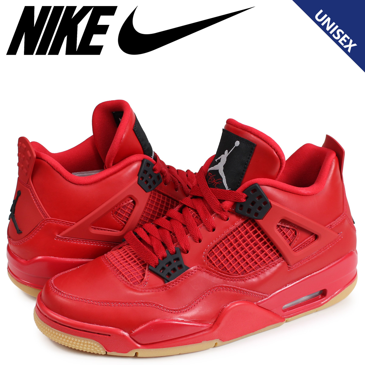 359e6fd2c9c3 NIKE WMNS AIR JORDAN 4 RETRO NRG SINGLES DAY Nike Air Jordan 4 nostalgic  sneakers Lady s men red AV3914-600