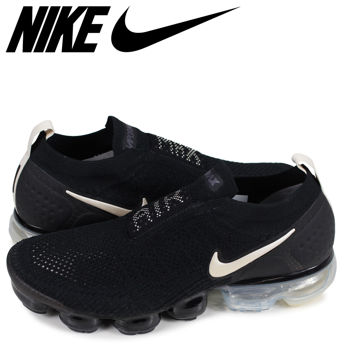 NIKE AIR VAPORMAX FLYKNIT MOC 2 Nike air vapor max fried food knit 2 sneakers men black black AH7006 002