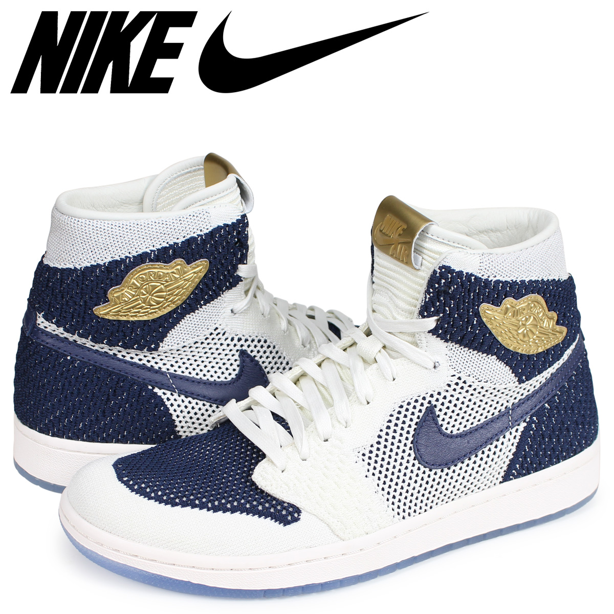 best website 2db0e d0370 NIKE AIR JORDAN 1 RETRO HI FLYKNIT JETER Nike Air Jordan 1 sneakers men  navy 553,558-481