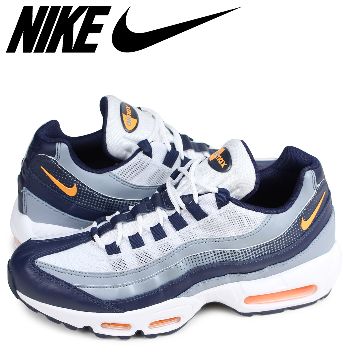 NIKE AIR MAX 95 SE Kie Ney AMAX 95 sneakers men navy AJ2018 401 [65 Shinnyu load]