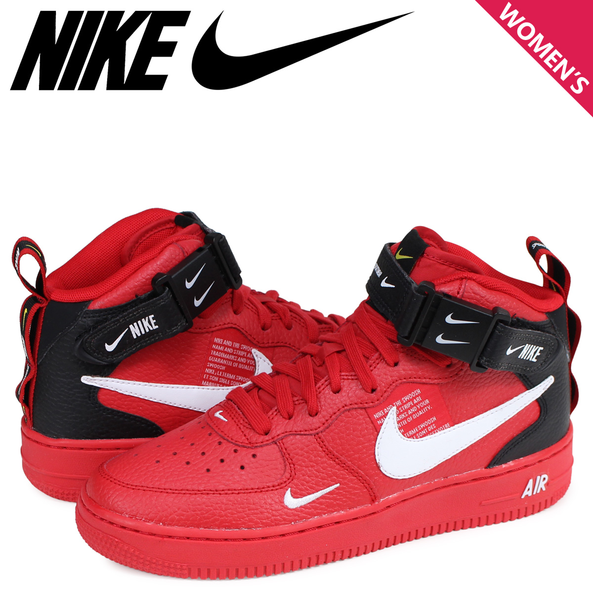 5de522eb61 NIKE AIR FORCE 1 MID LV8 GS Nike air force 1 sneakers Lady's red AV3803- ...