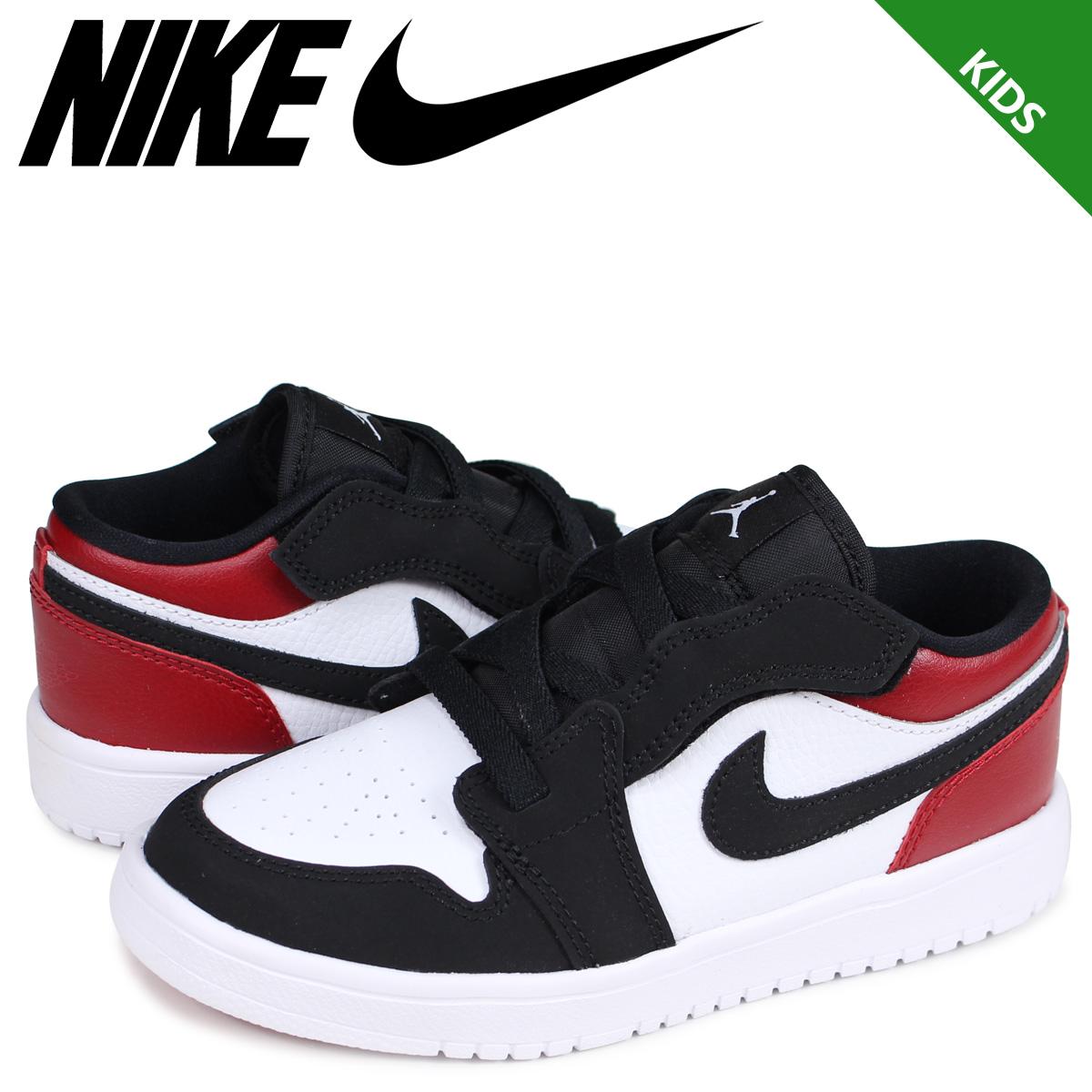 on sale 38d5f bd886 NIKE AIR JORDAN 1 LOW ALT PS BLACK TOE Nike Air Jordan 1 sneakers kids つま  black white white BQ6066-116