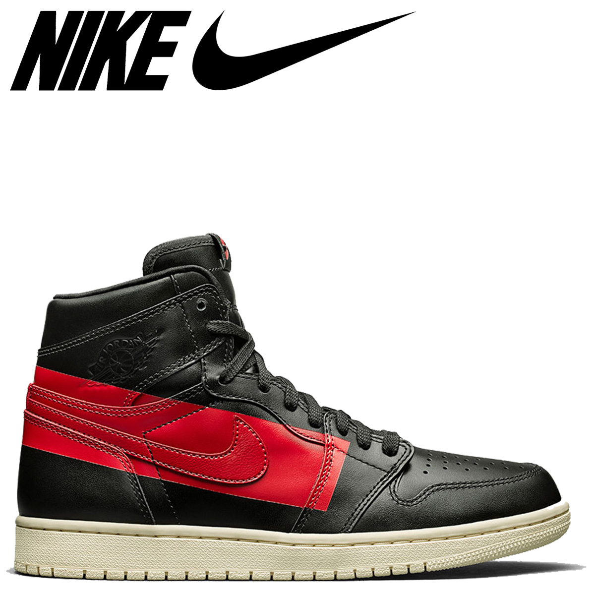 cute cheap large discount on wholesale NIKE AIR JORDAN 1 RETRO HIGH OG DEFIANT COUTURE Nike Air Jordan 1 nostalgic  high sneakers men black black BQ6682-006 [4/3 Shinnyu load]