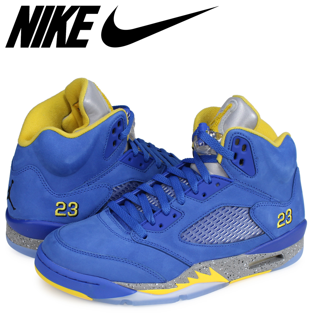 the best attitude a5c53 fce80 NIKE AIR JORDAN 5 RETRO JSP LANEY Nike Air Jordan 5 nostalgic sneakers men  blue CD2720-400