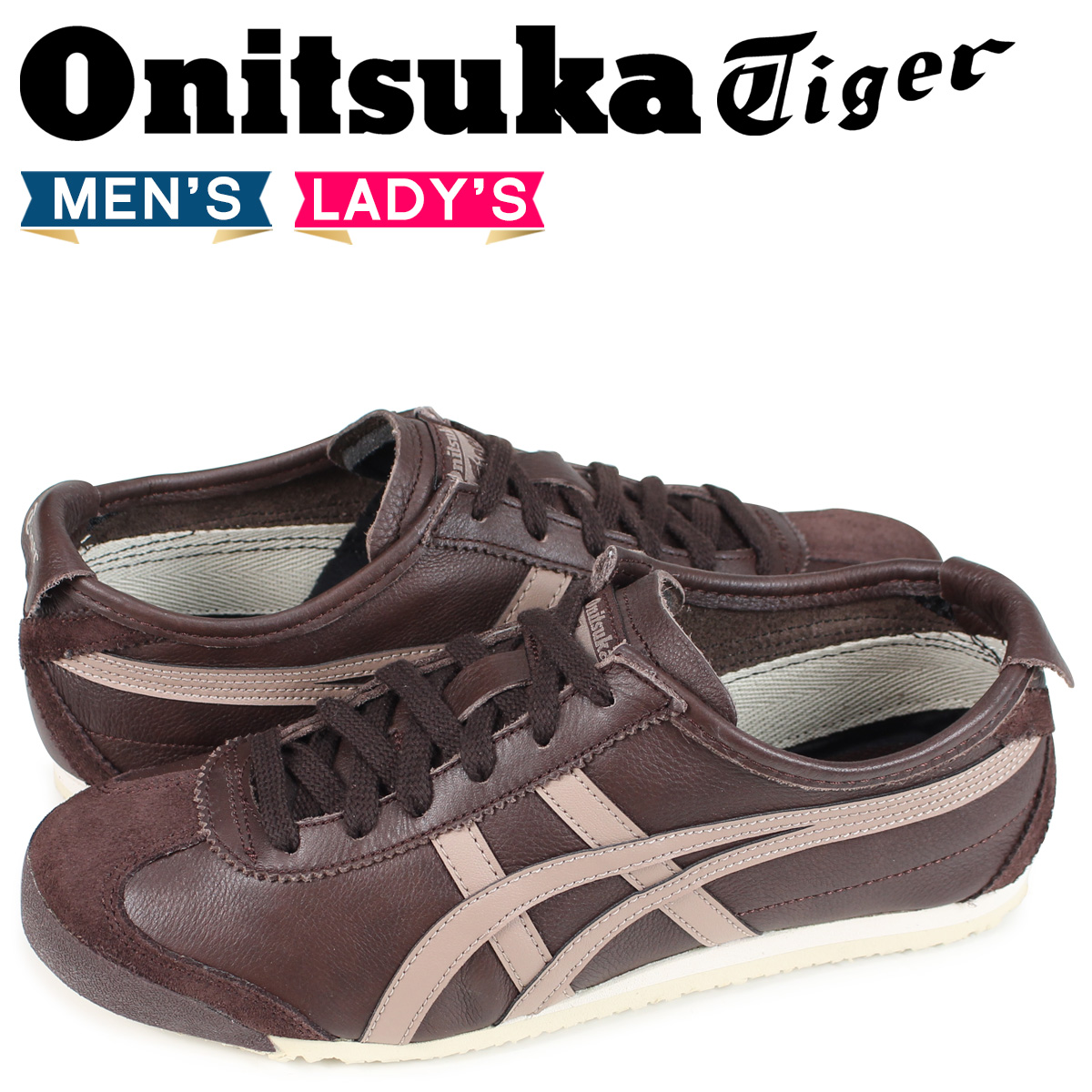 promo code 4b9fc a0390 Onitsuka tiger Onitsuka Tiger Mexico 66 MEXICO 66 men's lady's sneakers  1183A201-201 brown