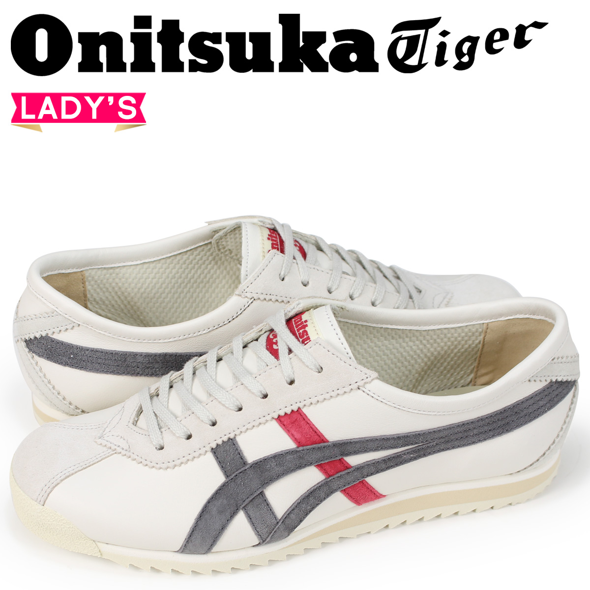 SneaK Online Shop | Rakuten Global Market: Onitsuka tiger limbers 66 Onitsuka Tiger LIMBER 66 PRESTIGE Lady's sneakers OT6000-201 white [load planned Shinnyu load in reservation product 8/2 containing]