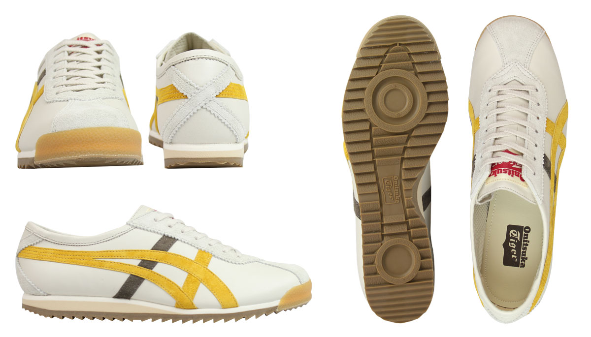 Onitsuka Tiger ASICs Onitsuka Tiger asics women's LIMBER 66 PRESTIGE sneakers limber 66 prestige OT6000-9963 off-white yellow [10/19 new in stock]