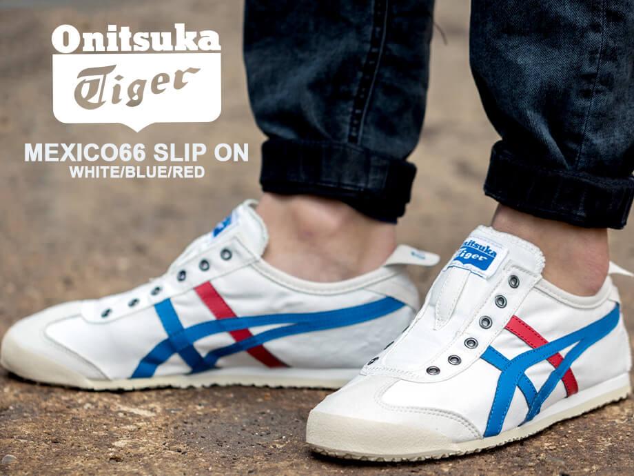 separation shoes 6b5c8 06d50 Onitsuka Tiger MEXICO66 SLIP ON Onitsuka tiger Mexico 66 slip-ons sneakers  men gap Dis white D3KON 0143 [the 8/1 additional arrival]