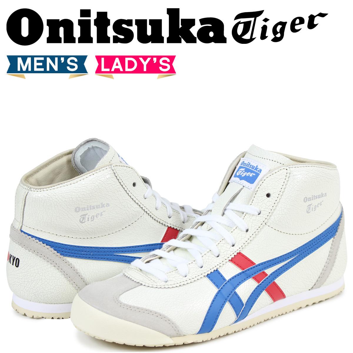 オニツカタイガー Onitsuka Tiger メキシコ スニーカー ミッド ランナー MEXICO MID RUNNER メンズ DL328-0142 THL328-0142 ホワイト [4/23 再入荷]