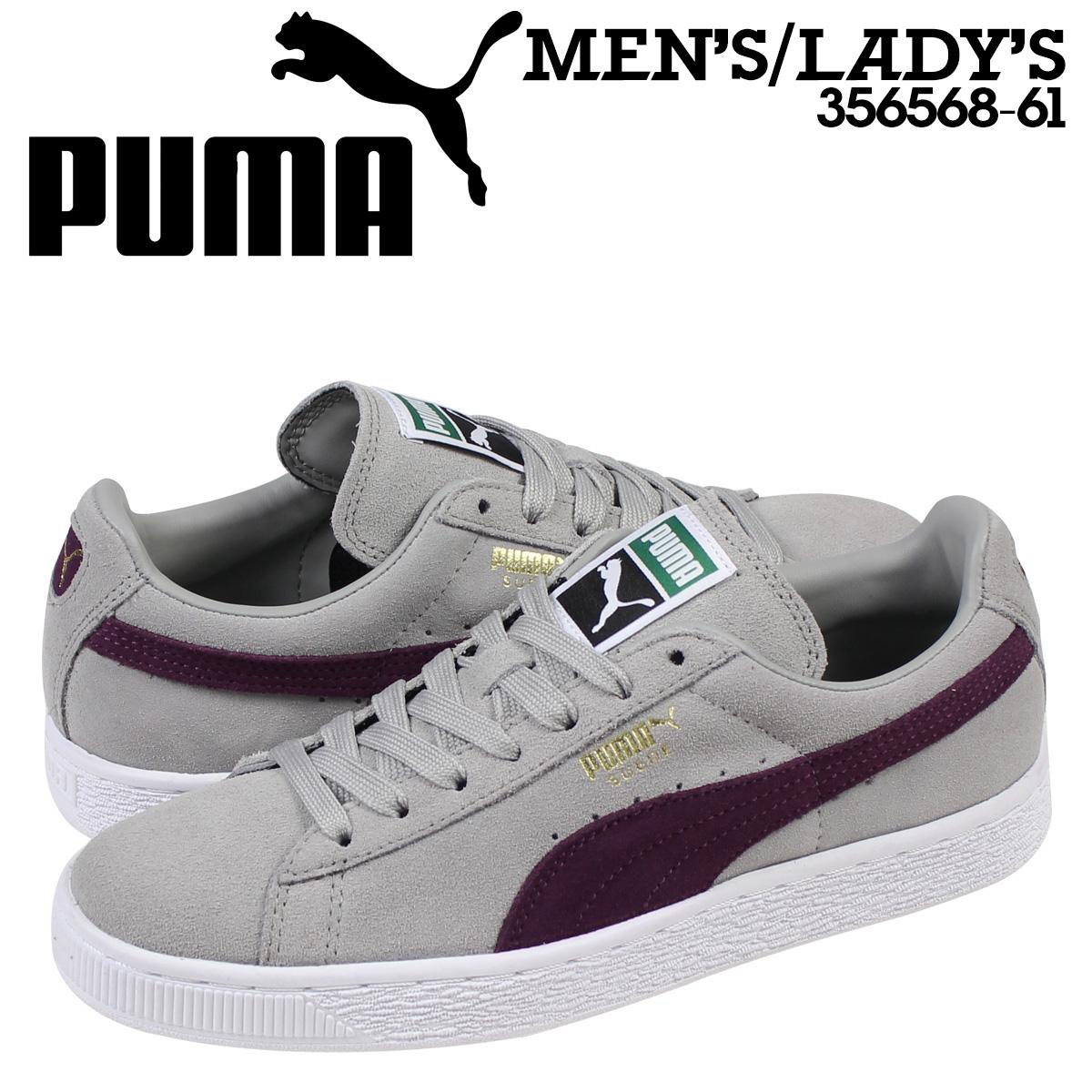 Puma PUMA suede classical music sneakers SUEDE CLASSIC + 356,568 61 men's lady's gray
