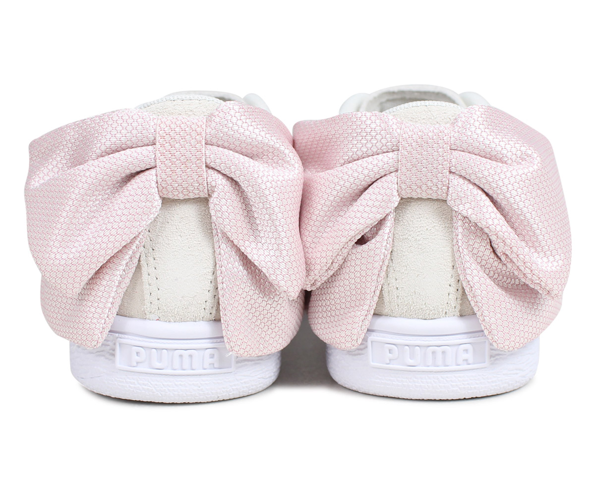 separation shoes 85fd7 71b11 Puma PUMA suede bow tie sneakers Lady's WMNS SUEDE BOW HEXAMESH off-white  36915102