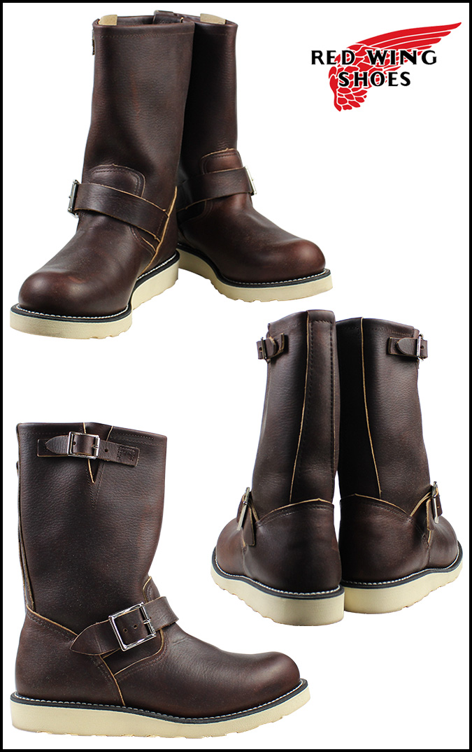 Red Wing SHOES RED WING Engineer Boots ENGINEER BRIAR OIL SLICK D wise leather men's workboots 2970 Brown [4 / 13 new stock] [regular] ★ ★