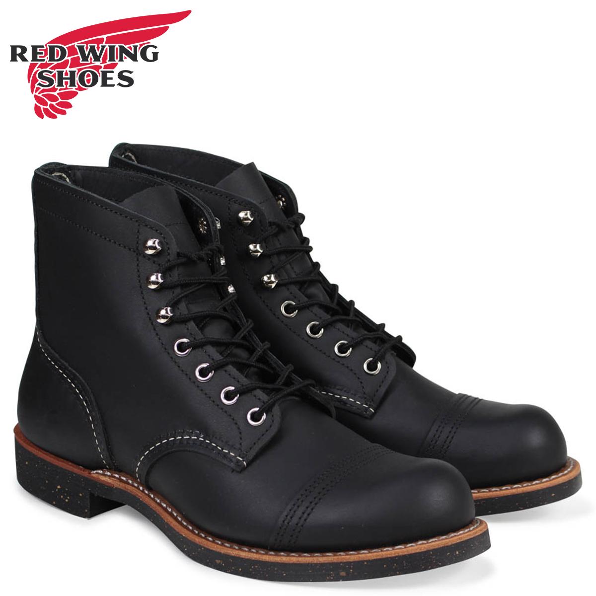 レッドウィング RED WING ブーツ アイアン レンジ 6インチ メンズ アイアンレンジャー 6INCH IRON RANGER Dワイズ ブラック 黒 8114