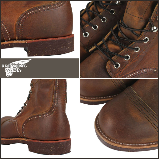 «预订产品» «11 / 14 天将会在股票» 红翼红翼 6 寸铁范围在美国红翼靴 8115 铁护林员引导皮革男士制造