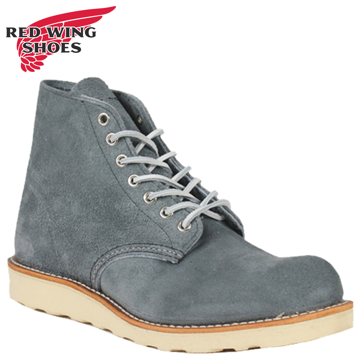 Redwing RED WING 6 inch rounds to boots 8144 6inch Round Toe Boots leather men's SLATE BLUE Made in USA Red Wing