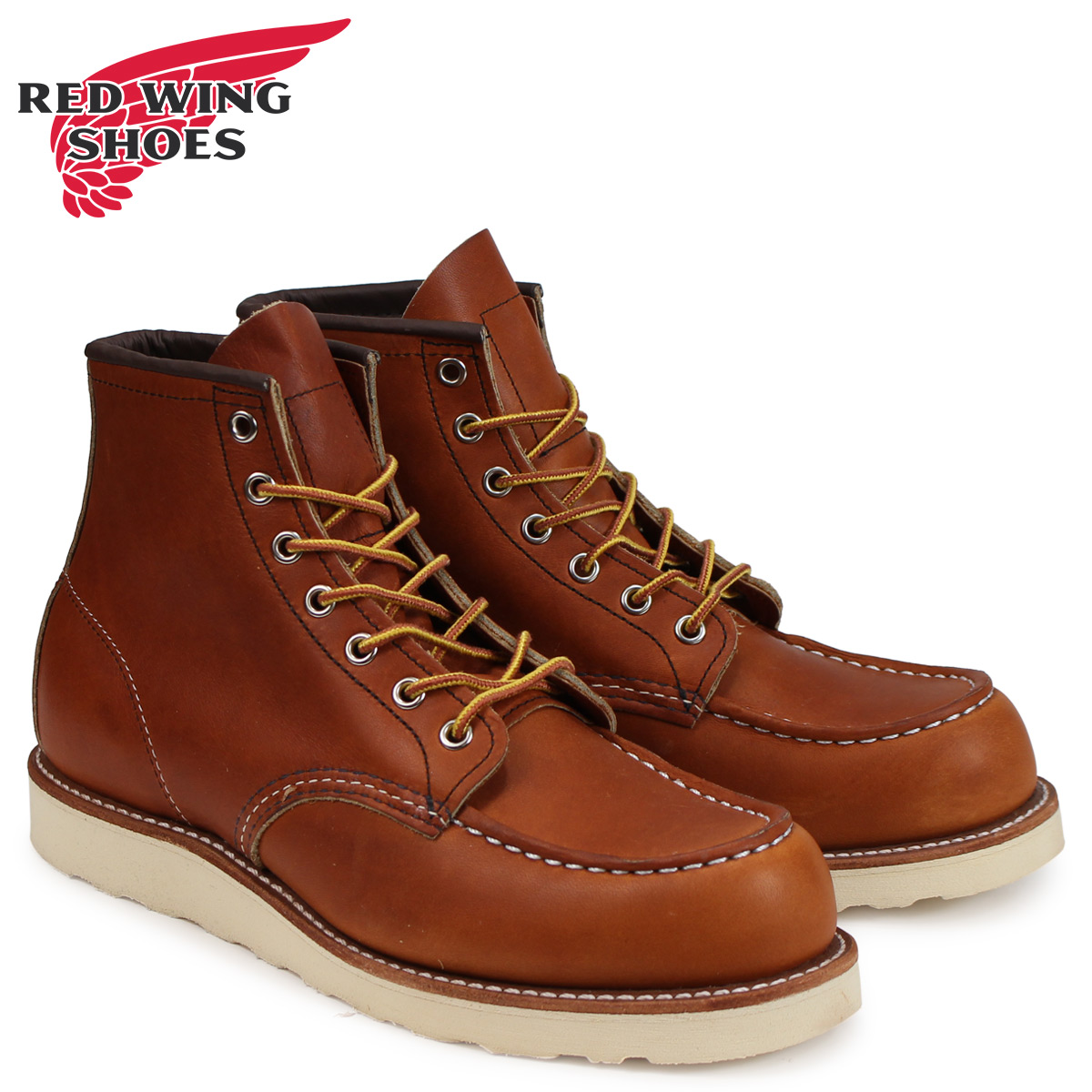 レッドウィング RED WING ブーツ アイリッシュセッター 6インチ クラシック モック メンズ 6INCH CLASSIC MOC Dワイズ ブラウン 875
