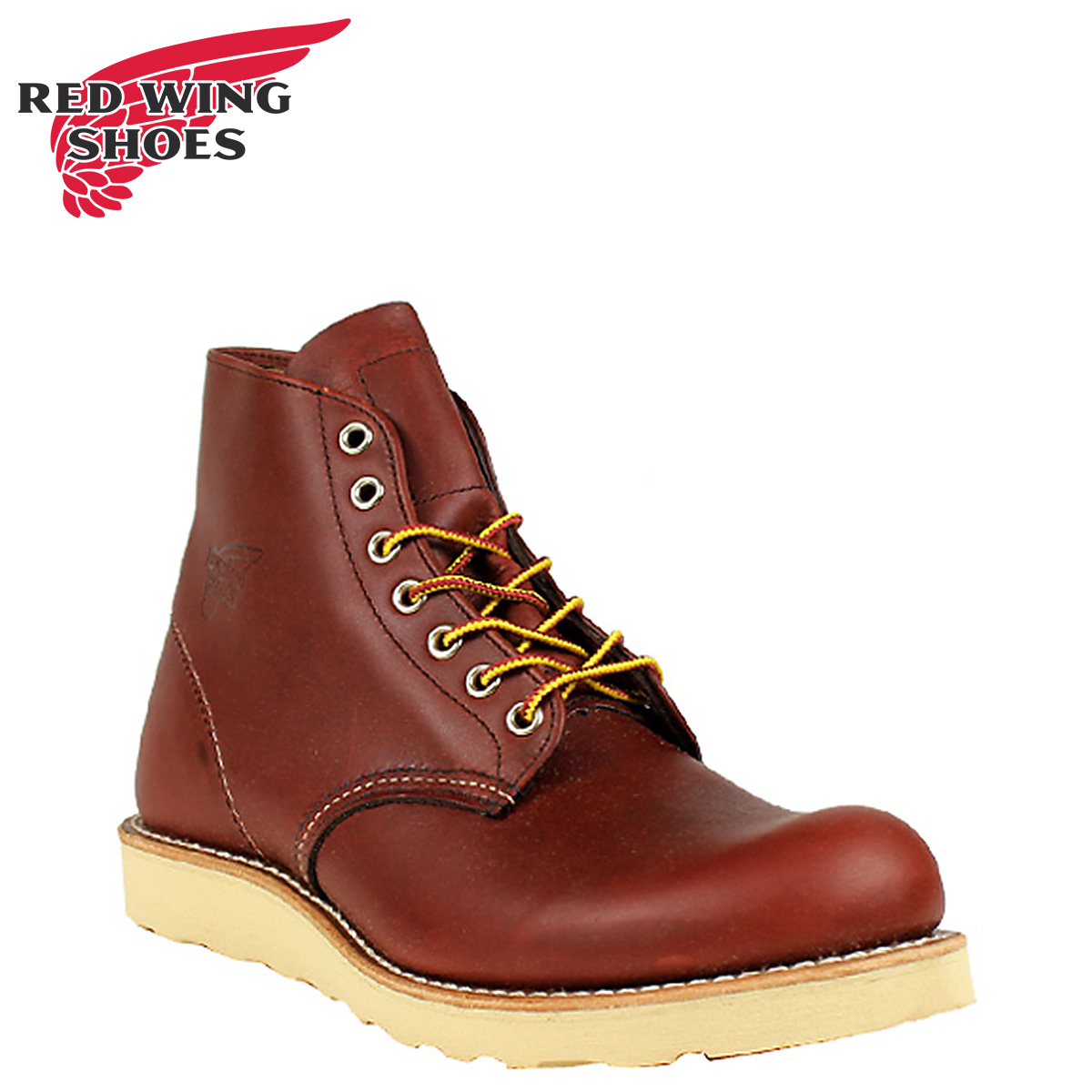 Redwing RED WING 6 inch rounds to boots 9105 8166 6inch Round Toe Boots D wise leather mens Brown Made in USA Red Wing