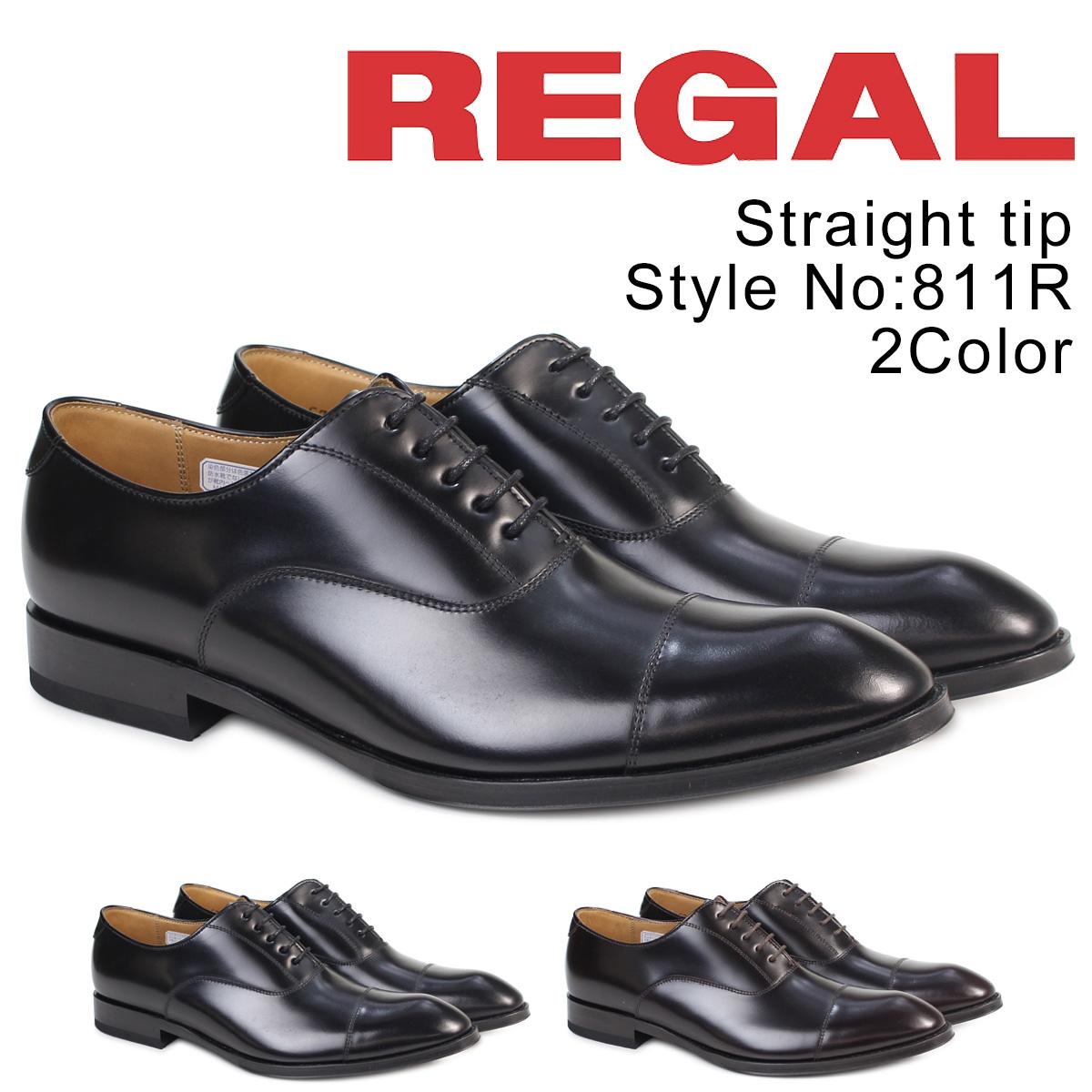 【お買い物マラソンSALE】 リーガル REGAL 靴 メンズ ストレートチップ 811RAL ビジネスシューズ