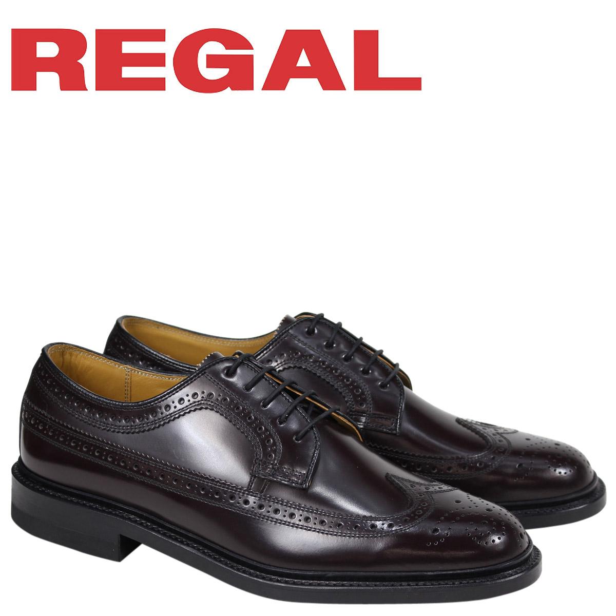リーガル 靴 メンズ REGAL ウイングチップ ビジネスシューズ 日本製 ブラウン 2589N