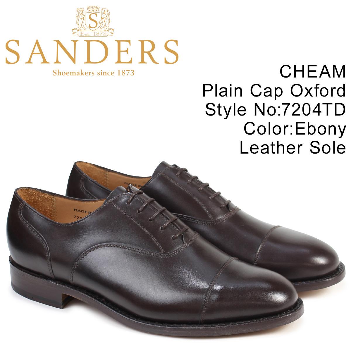 サンダース SANDERS ミリタリー オックスフォード シューズ ビジネス CHEAM 7204TD メンズ ダークブラウン
