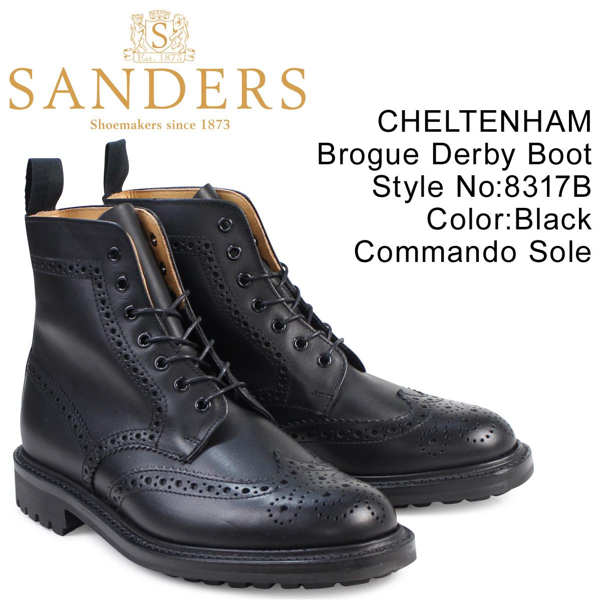 サンダース SANDERS ミリタリー カントリーブーツ CHELTENHAM 8317B メンズ ブラック