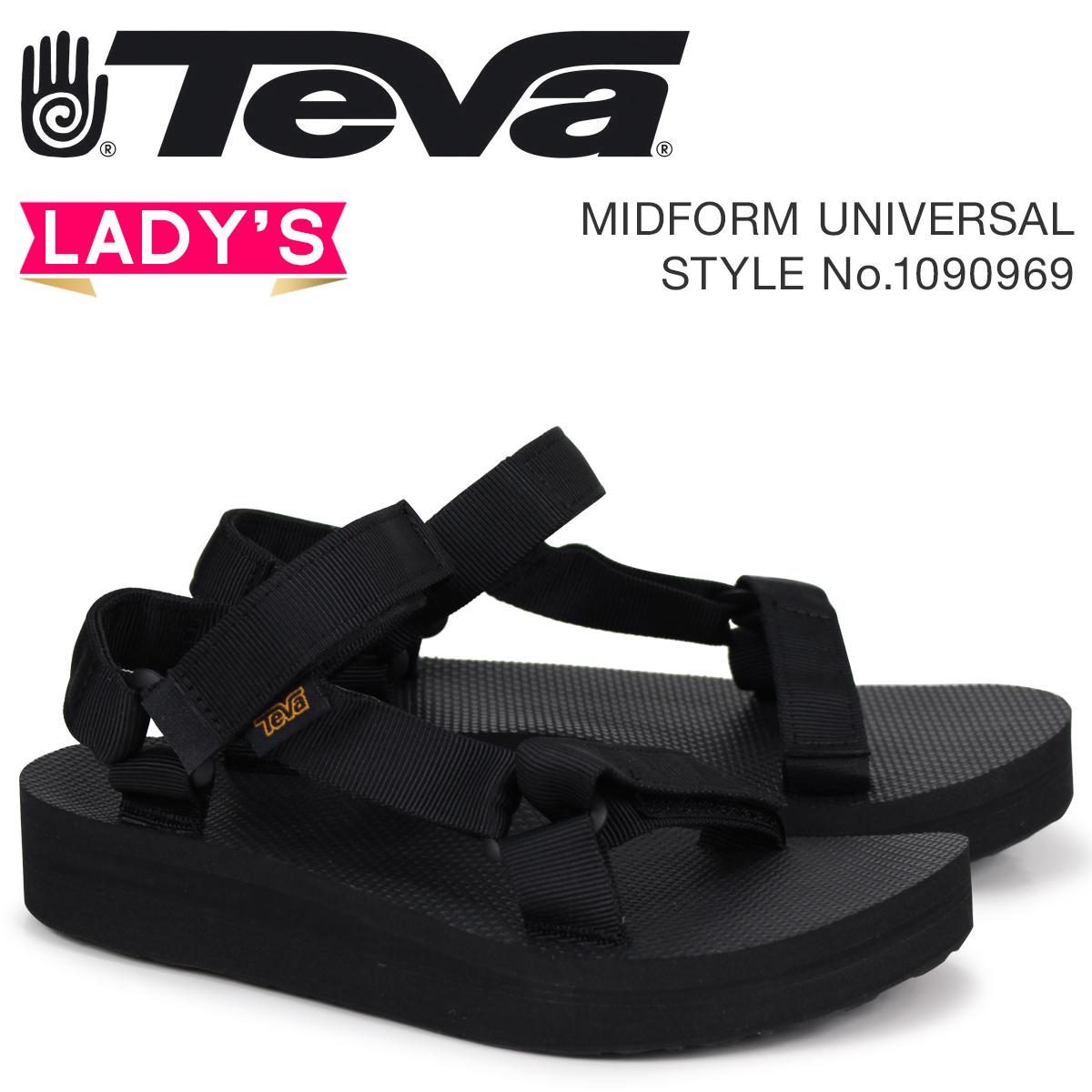 8f6ecb3713c Teva Teva sandals Lady's mid form universal MIDFORM UNIVERSAL black 1090969  ...