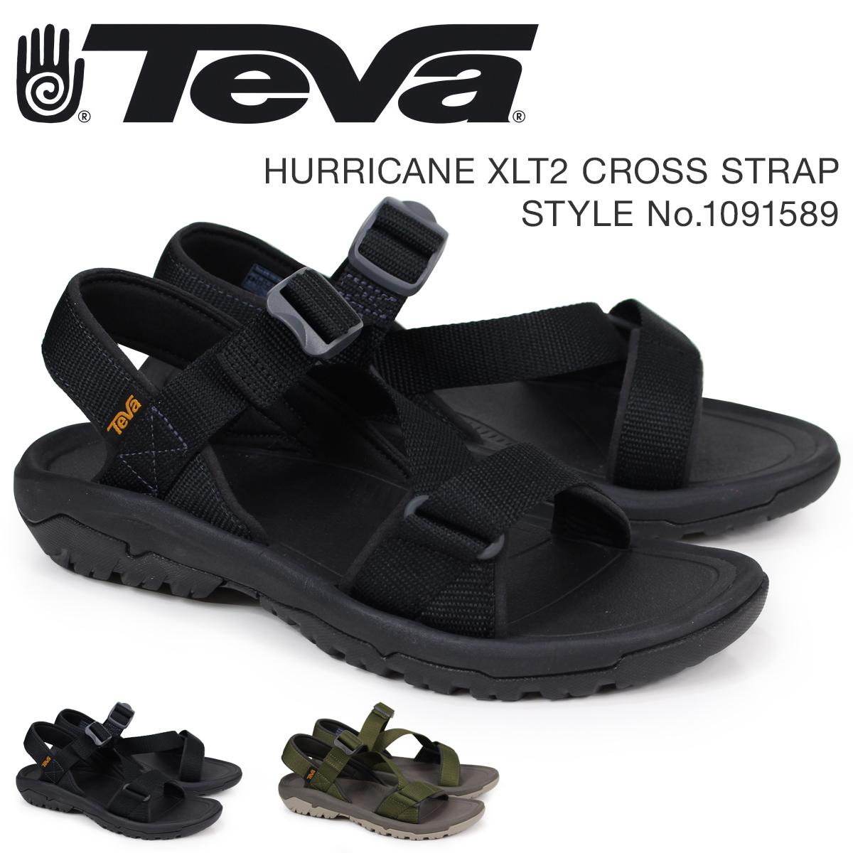 9350041a6764 Teva Teva sandals men hurricane XLT2 HURRICANE CROSS STRAP black dark olive  1091589  4 18 Shinnyu load