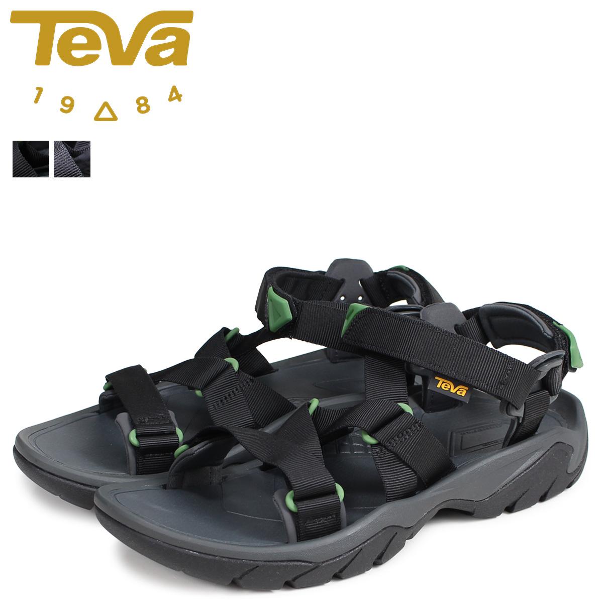 【お買い物マラソンSALE】 Teva テバ サンダル テラ メンズ TERRA FI 5 SPORT ブラック グレー 黒 1099441