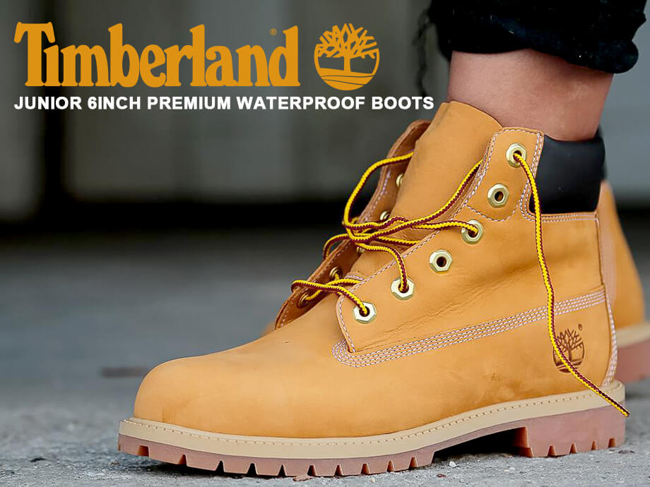 Timberland JUNIOR 6INCH PREMIUM WATERPROOF BOOTS Timberland boots Lady's 6 inches premium yellow 12909 [the 913 additional arrival]
