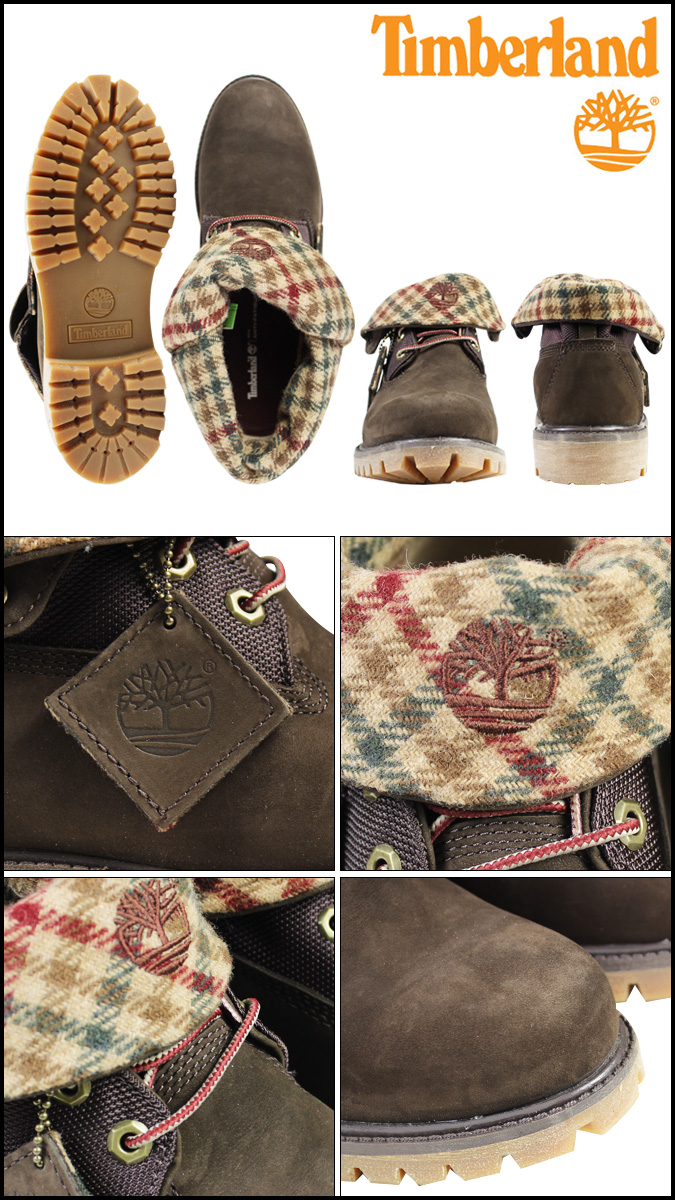 Timberland Timberland roll top Woolrich boots ROLL TOP WOOLRICH BOOTS nubuck men's work boots 6121A Brown [12 / 17 new in stock] [regular]