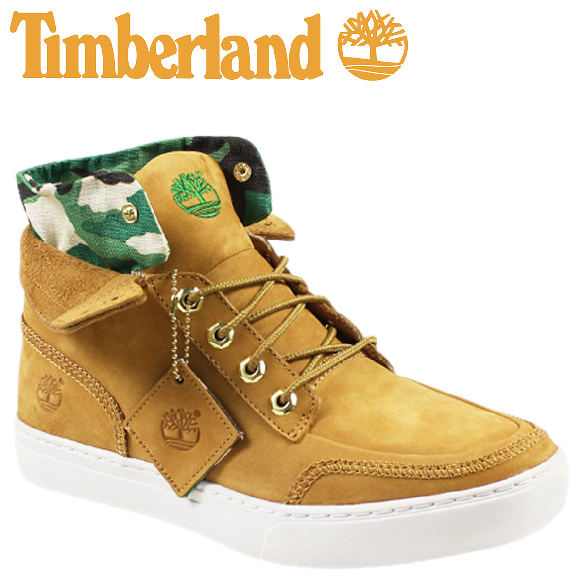 Timberland Timberland Earthkeepers merge roll top boots EK MERGE ROLL-TOP nubuck 6134A wheat × Camo [3 / 24 new in stock] [regular]