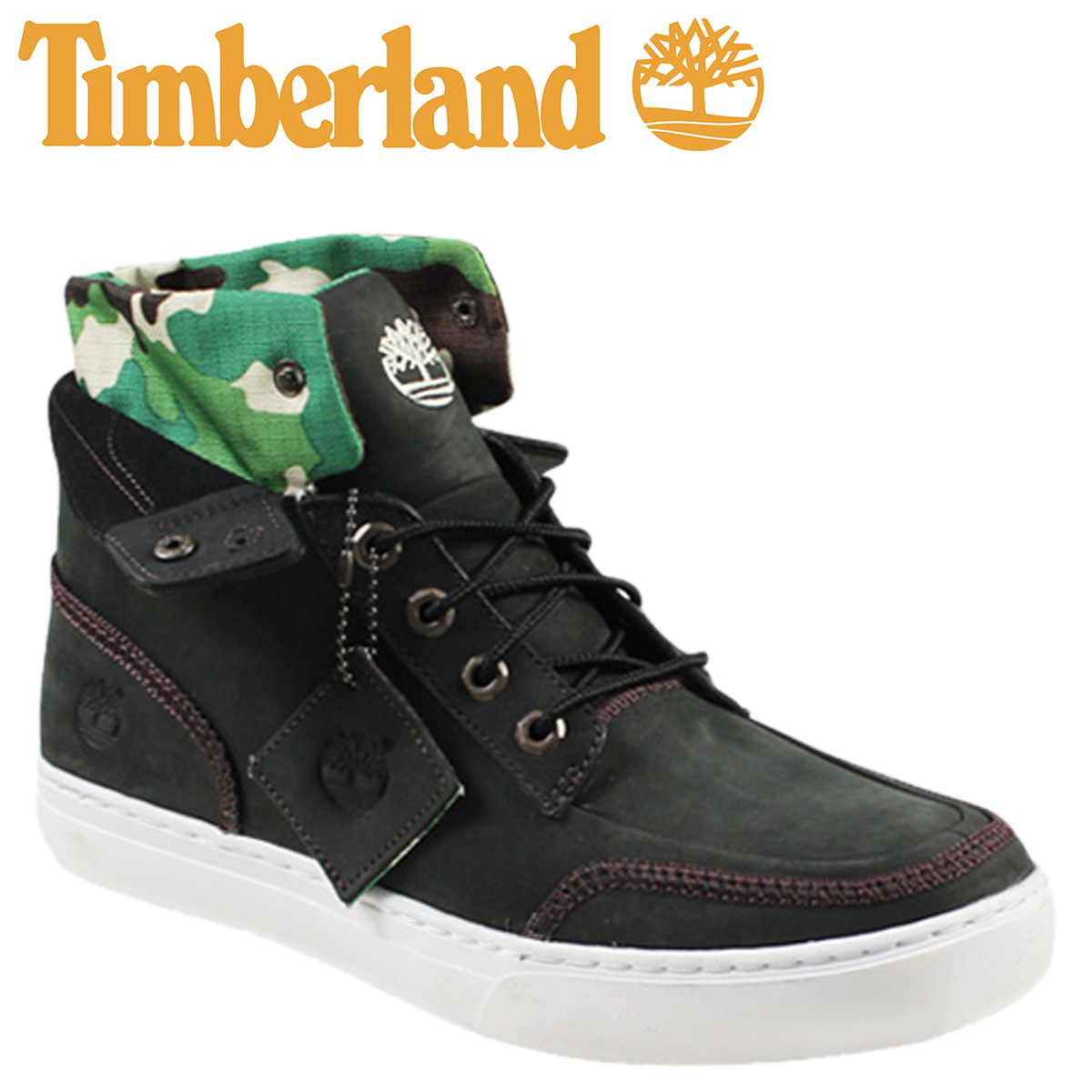 timberland roll top boots black camo