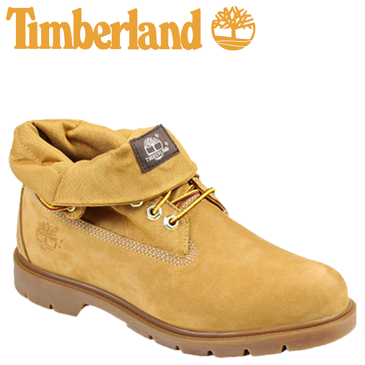 timberland basic roll top mens boots wheat