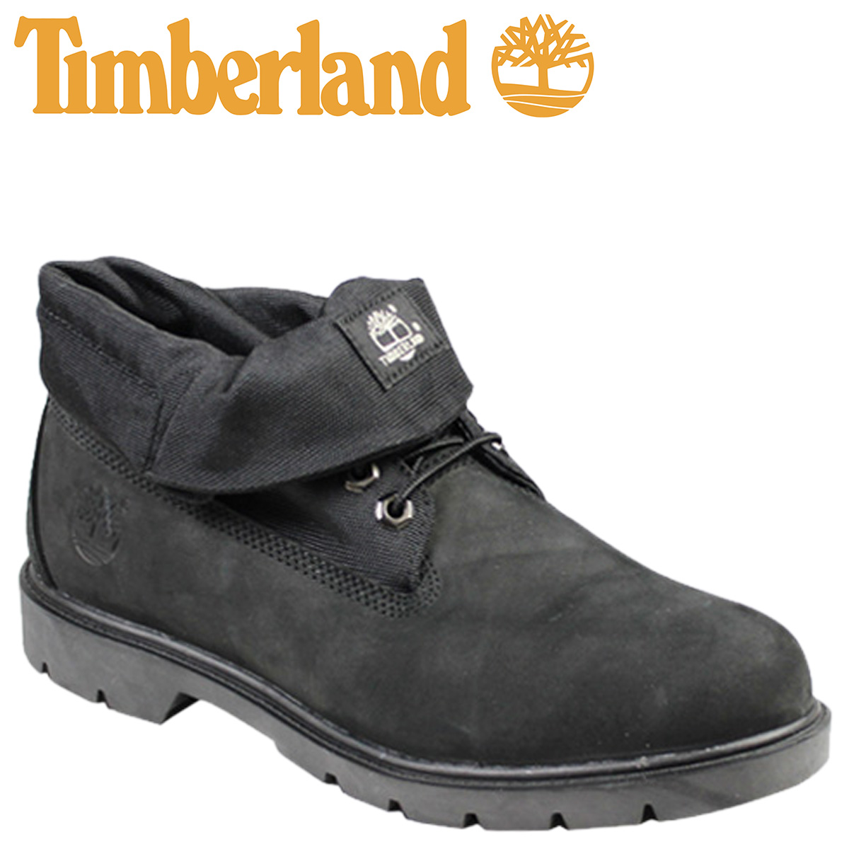black roll top timberland mens boots