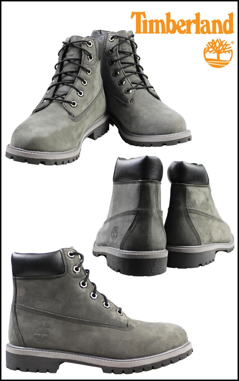 timberland junior 6 inch premium waterproof boot grey