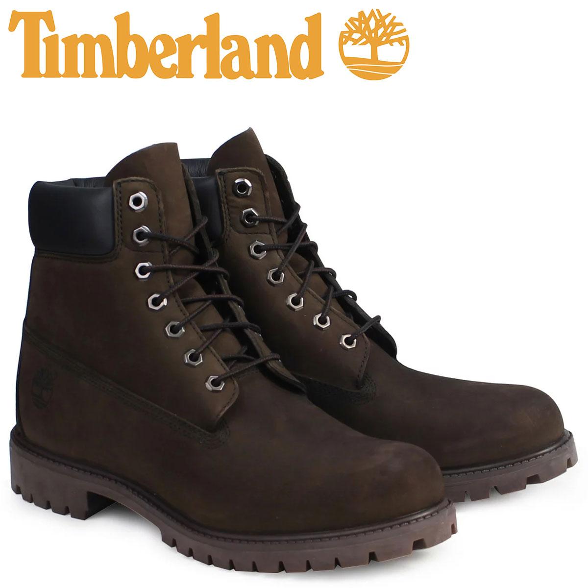 ティンバーランド Timberland ブーツ メンズ 6インチ 6INCH PREMIUM WATERPROOF BOOTS プレミアム ウォータープルーフ ヌバック 防水 10001 ダークチョコレート
