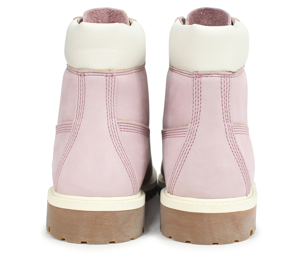 Timberland JUNIOR 6 INCH PREMIUM WATERPROOF BOOTS Timberland boots Lady's 6 inches kids 34,992W Wise pink